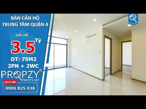 Bán căn hộ 75m2 The Riva Park Quận 4, thiết kế 2 phòng ngủ 2wc tiện nghi | Propzy