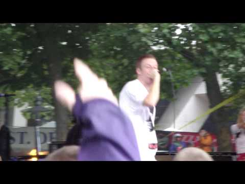 Macklemore performing A Wake at Bumbershoot with Evan Roman