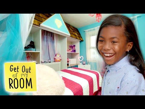 Girl Gets a LIFE-SIZED Doll House for a Bedroom! | Get Out Of My Room | Universal Kids