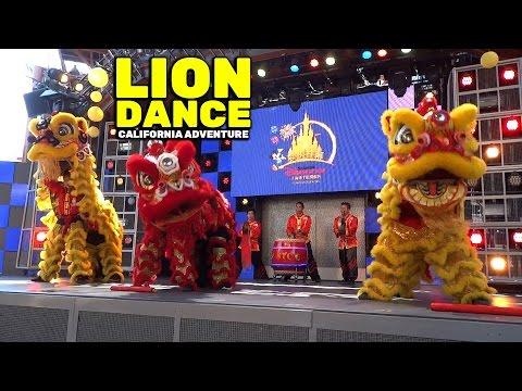 FULL Chinese lion dance in celebration of Shanghai Disneyland at Disney California Adventure