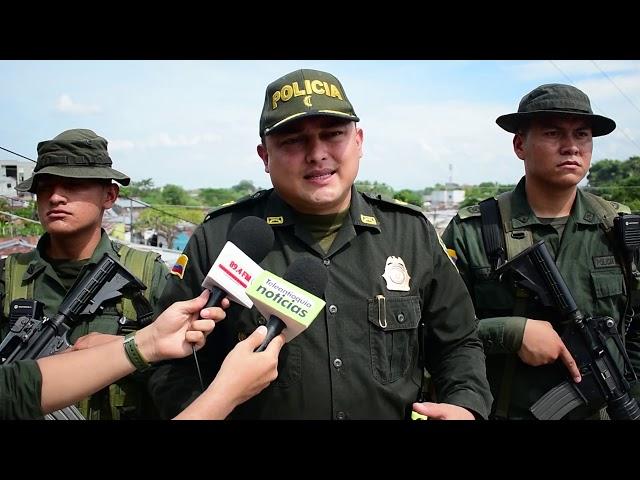 60 personas capturadas dejaron operativos de la policía nacional en Puerto Berrío en el año 2019