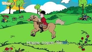 Hoppe, hoppe Reiter - Karaoke Version (Sing Allein) in Deutscher Sprache mit Text am Monitor