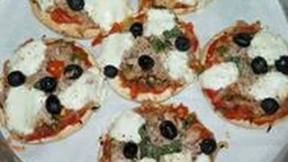 PITA PIZZA AU THON FACILE(CUISINERAPIDE)