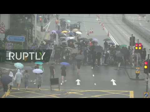 : protesters hold rally in Hong Kong despite ban