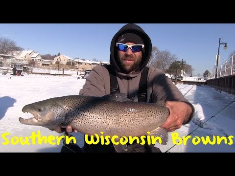 Ice Fishing for Southern Wisconsin Brown Trout