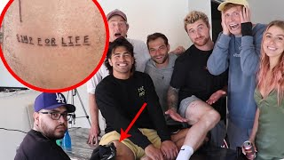 SURPRISING VLOG SQUAD WITH CRAZY TATTOO GAME!!