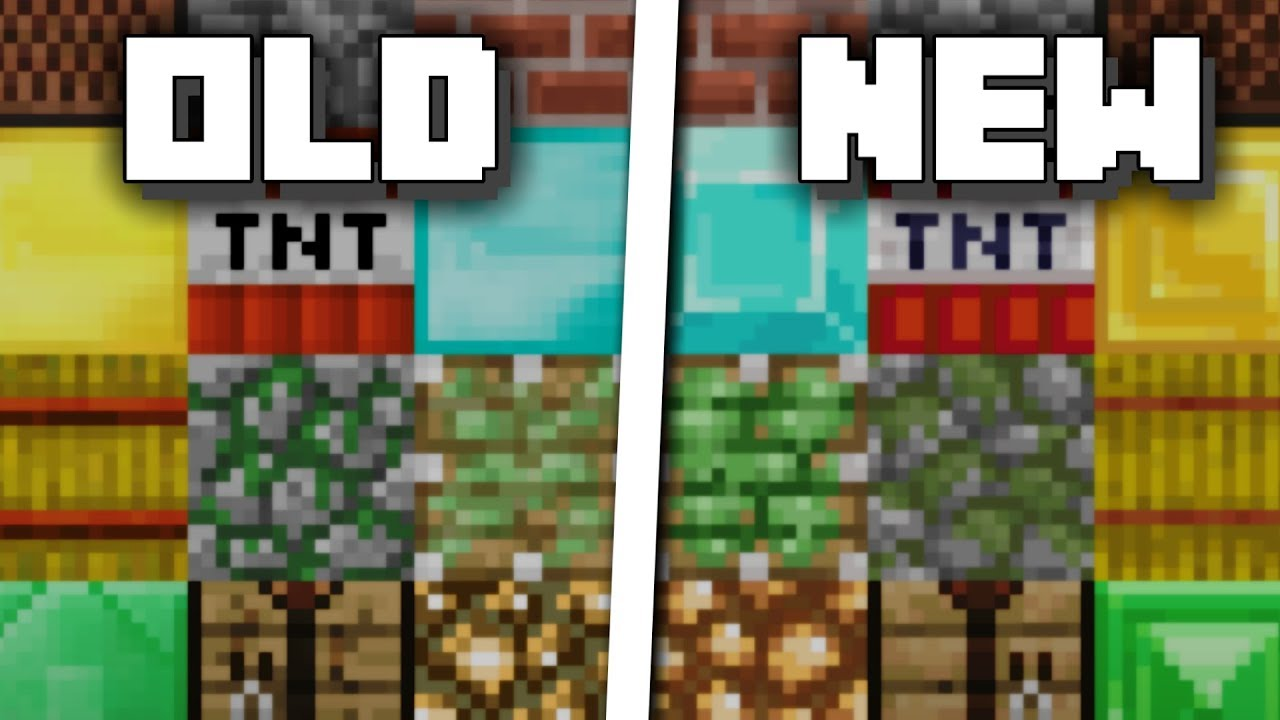 Minecraft Old Vs New Texture Pack Comparison Youtube
