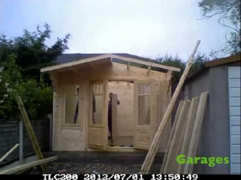 Garden Sheds York Area timber shed installation - garasheds of york - youtube