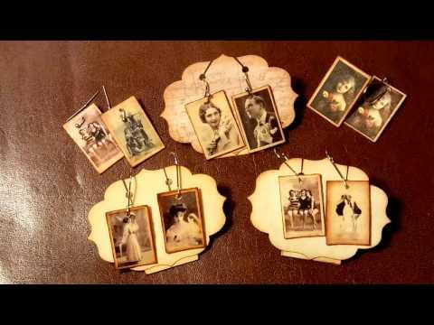 DIY vintage photo earrings
