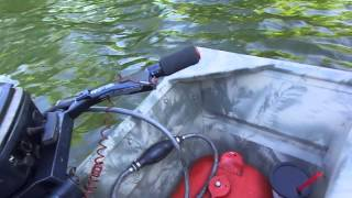 Camouflaged Jon Boat Paired With Evinrude 15hp