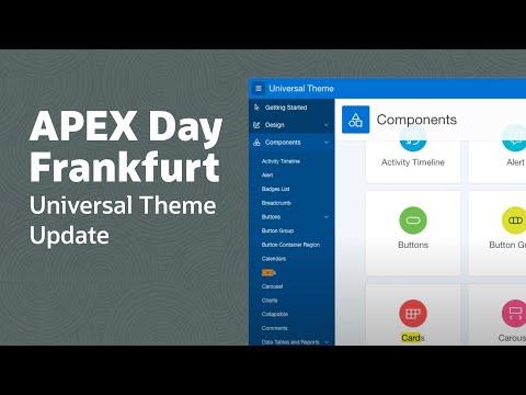 APEX Day Frankfurt  -  Universal Theme Update