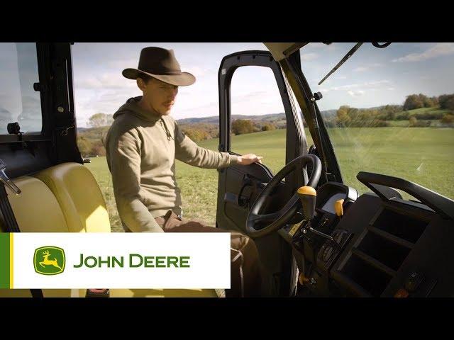Pojazdy użytkowe John Deere - Łatwe wejście i wyjście z kabiny