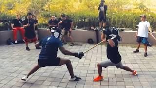 Footwork Saved My Butt: Full Contact Stick Fight! [ Pekiti Tirsia ] Mp3
