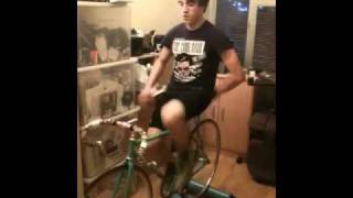 Ed running on rollers
