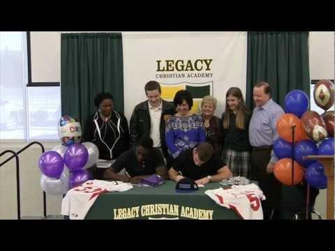 Legacy Christian Academy 2013 Football Signings, Adam Beck & Ovie Urevbu