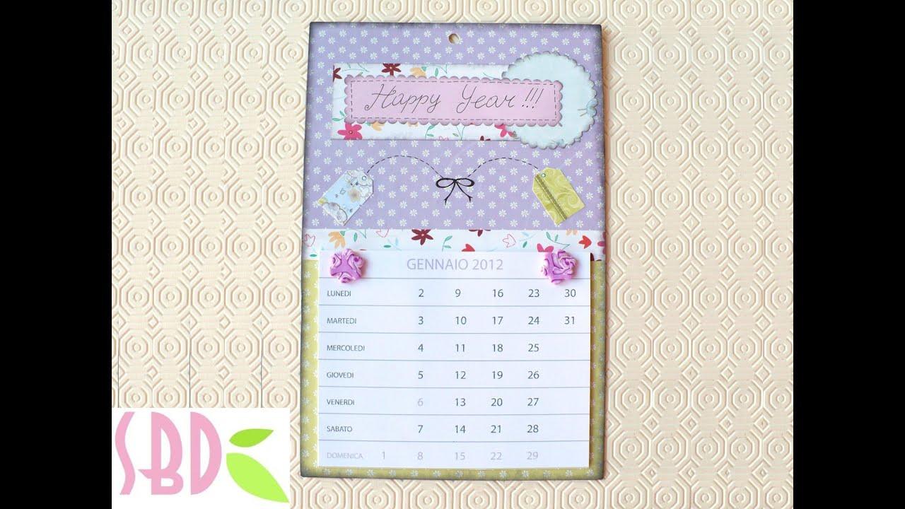 Scrapbooking tutorial: Calendario sweet 2012 - 2012 DIY