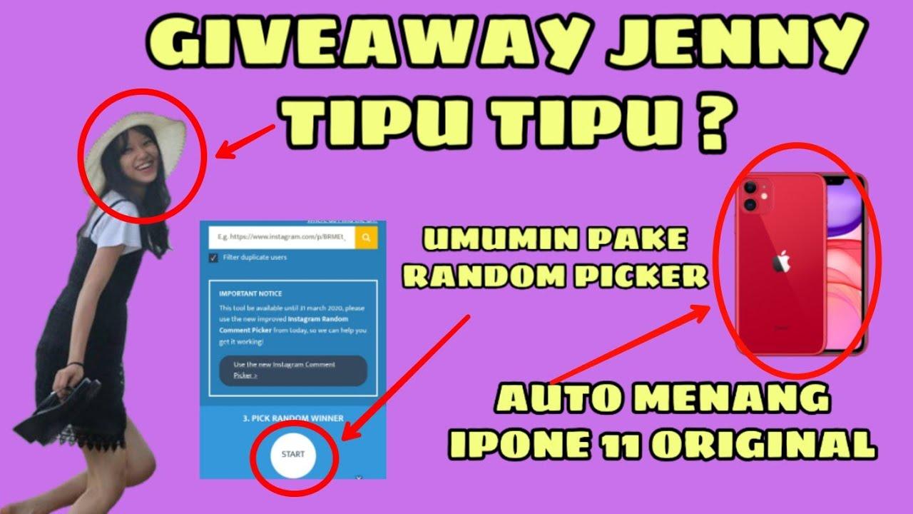 Giveaway Jenny Penipu Tips Menang Giveaway Random Picker