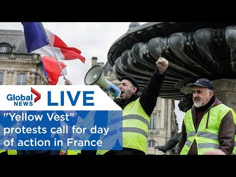 "LIVE: ""Yellow Vest"" protesters in France call for national day of action"
