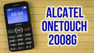 Распаковка Alcatel OneTouch 2008G Black