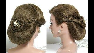 Easy Wedding Hairstyles. Bridal updo. Hair Tutorial