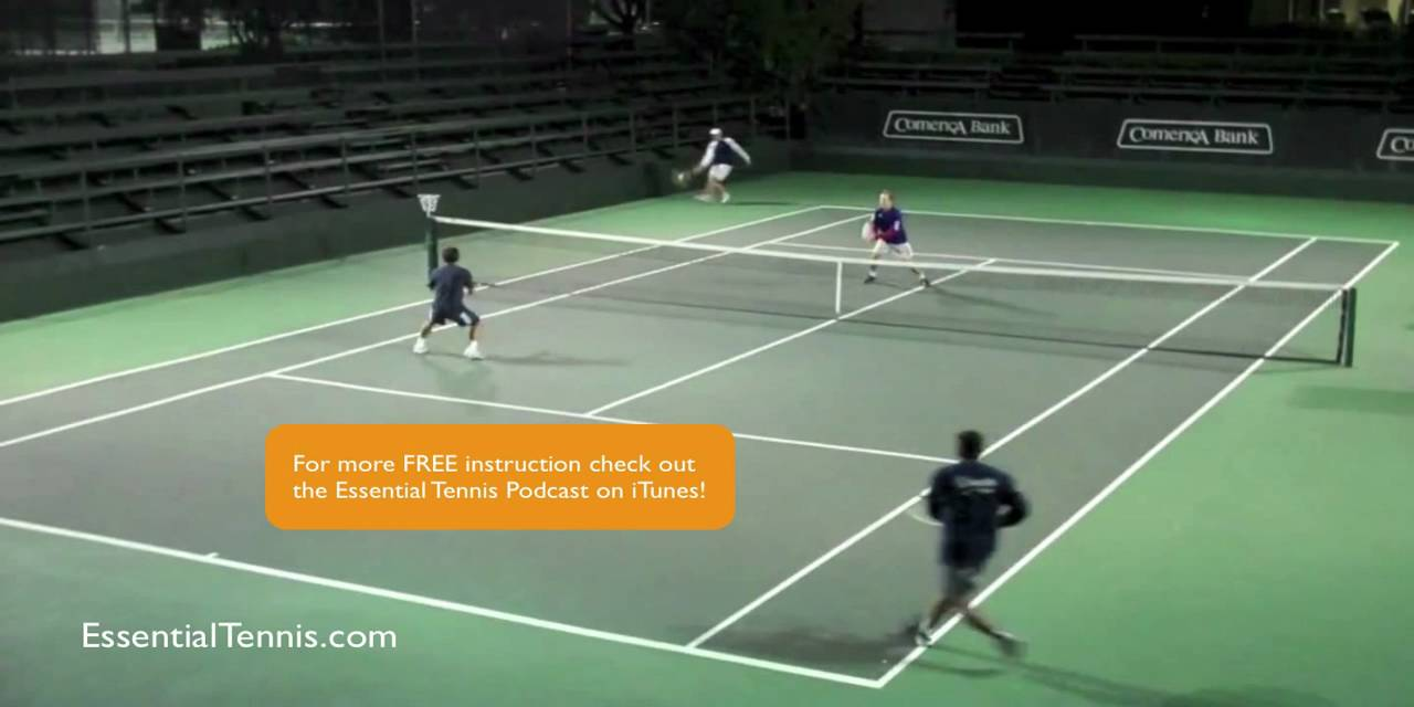 Tennis Doubles Positioning Shading Youtube