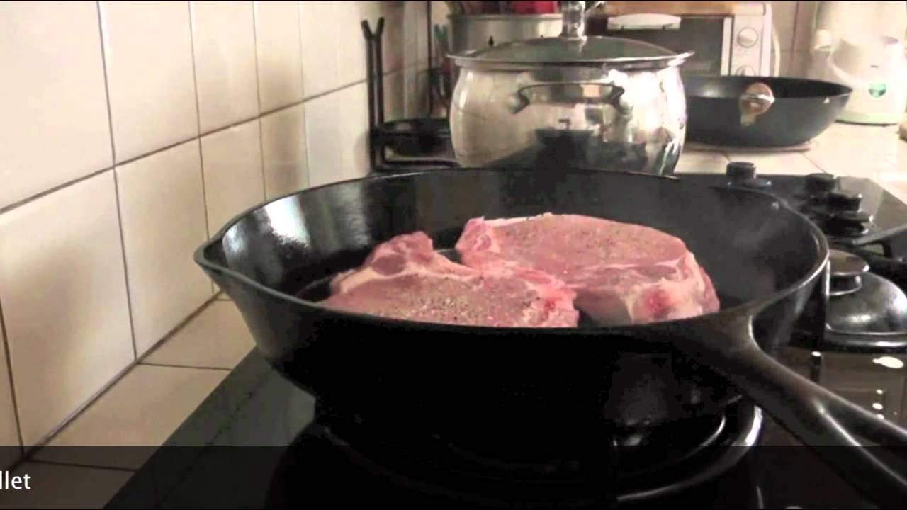 How To Pan Sear Pork Chops In Cast Iron Skillet  Cast Iron Cooking