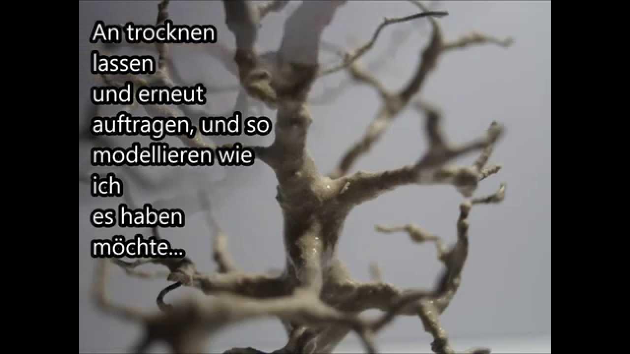 Bäume selber gestalten aus Draht - YouTube