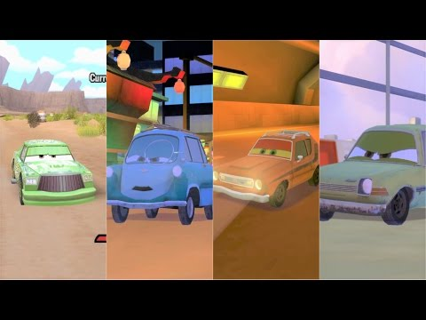 Cars 1 & Cars 2 Bosses Race Compilation HD