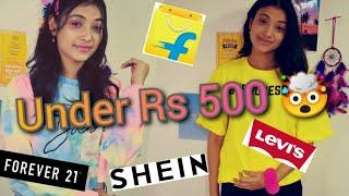 Affordable Tshirt Haul Amazon Flipkart Shein Tshirt Haul Tshirt Try on Haul
