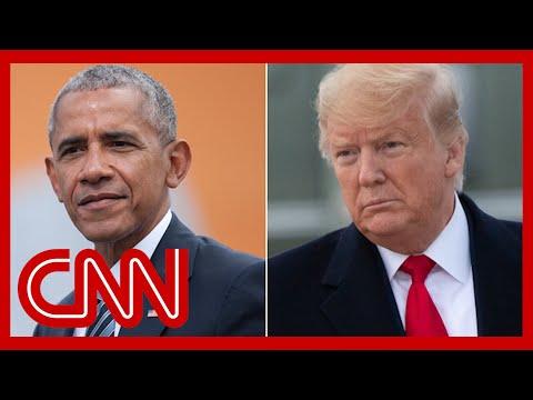 Trump says Obama