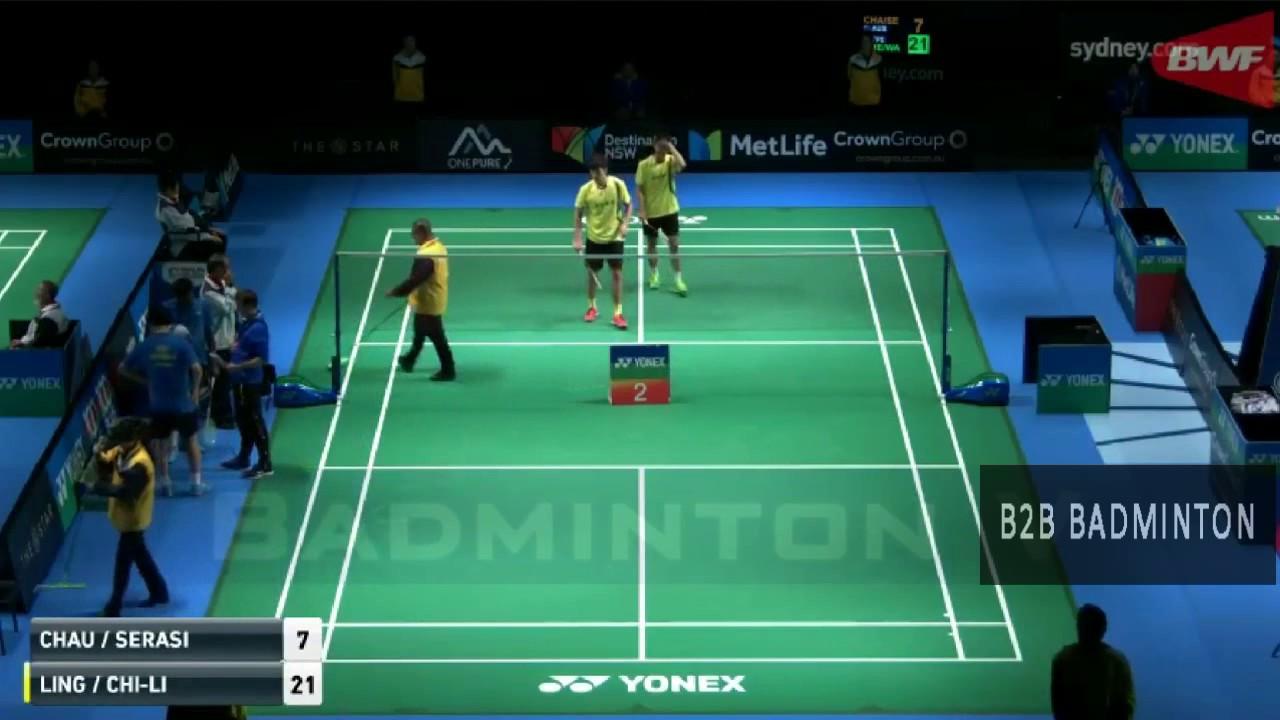 Badminton 2017 Australian Open CHEN Hung Ling WANG Chi Lin vs