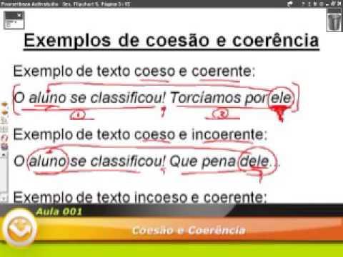 Arquivo de Coesão Textual | Exercícios Web
