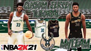 MILWAUKEE BUCKS CUSTOM JERSEY TUTORIAL! CREAM CITY UNIFORM! NBA 2K21 MyTeam! HOW TO MAKE! BLACK GOLD