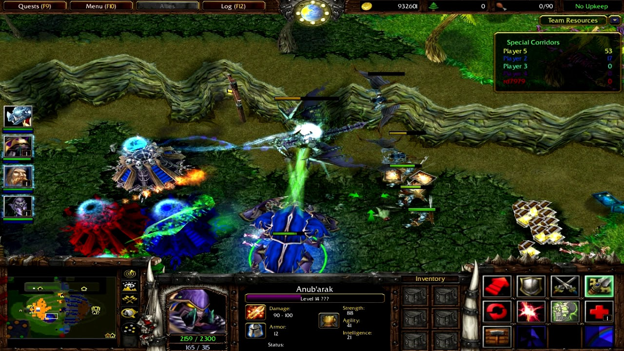 Warcraft 3 Custom Map Special Corridors Youtube