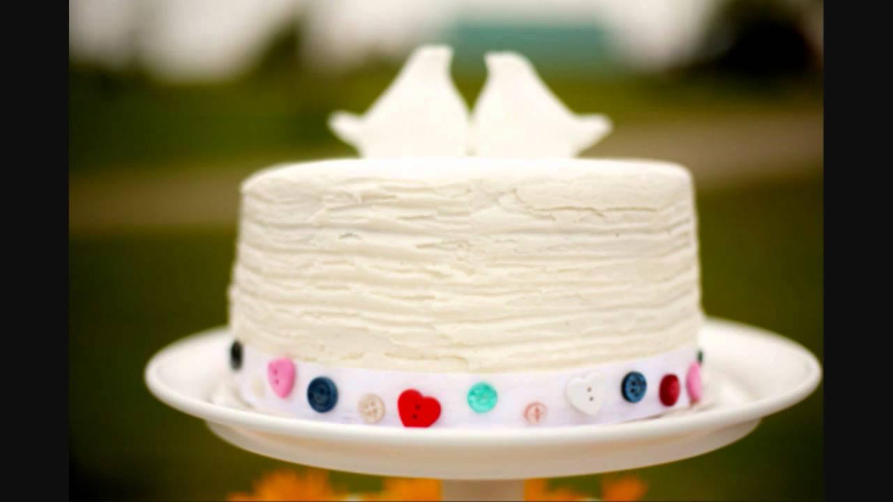 Stylish and Simple Wedding Cakes & Photos - YouTube