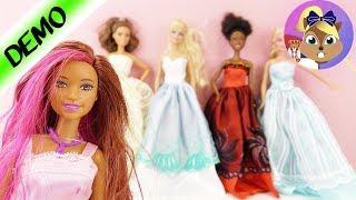 Barbie nove haljine / MODNA REVIJA NOV STYLING sa 5 balskim haljinama + 12 pari cipela