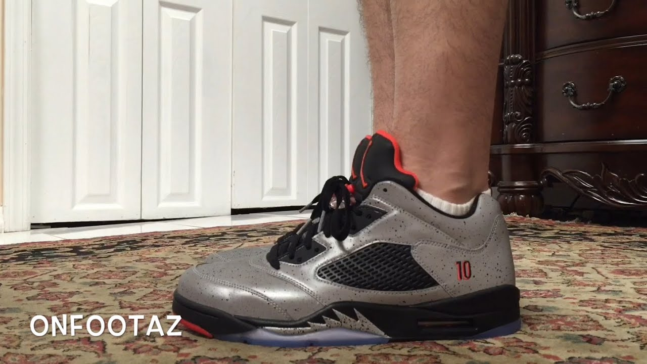 new arrival 1d476 dc4af Air Jordan 5 V Low Neymar On Foot