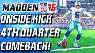 ONSIDE KICK! 4TH QUARTER COMEBACK THRILLER! - Madden 16 Ultimate Team