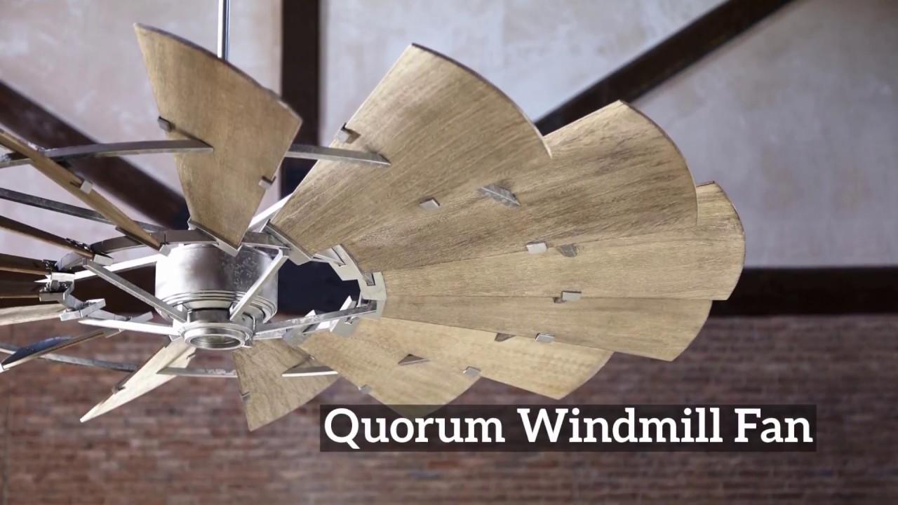 quorum windmill fan rustic kitchen quorum windmill fan youtube