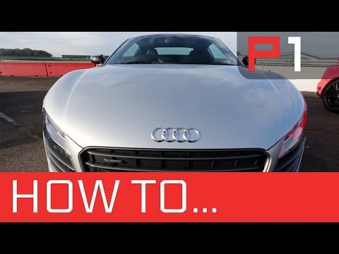 How to transfer weight - braking & accelerating - Audi R8 - Race training