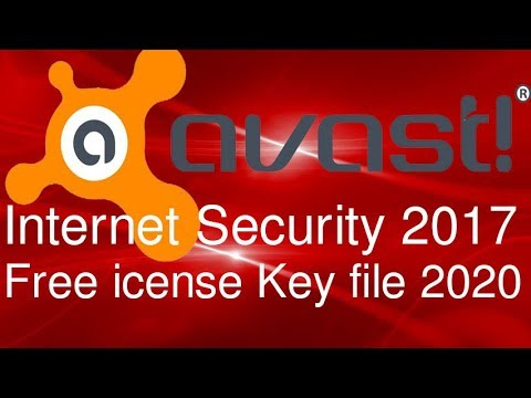 How to download Avast Internet Security 2017 With License Key file 2020