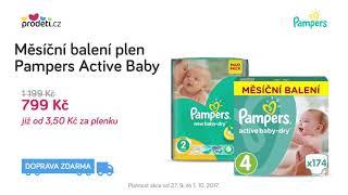 Akce: Pampres Active Baby - měsíční balení za 799 Kč + Doprava ZDARMA