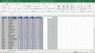 Microsoft Excel Database Functions and Camera Tool