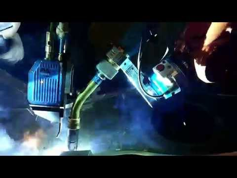 Multipass Robot Welding with Laser Seam Tracking