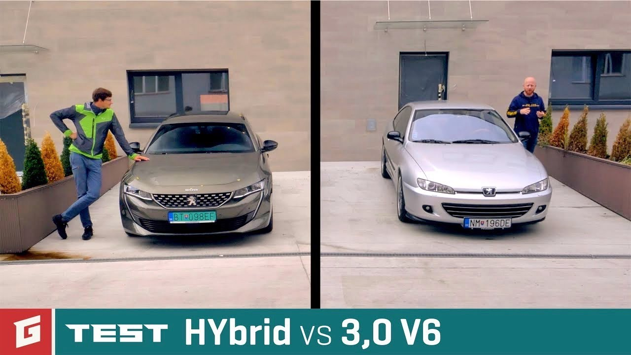 Peugeot 406 3,0 V6 vs Peugeot 508 SW HYbrid Plug-in - GARAZ.TV - YouTube