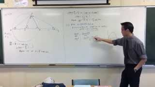 Interesting Circle Geometry / Motion Question (2 of 2: External Angular Velocity)