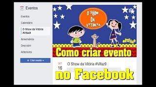 Como criar evento no face #VEDA03