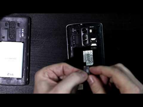 LG G3 Micro SIM Card & Micro SD Card Insert