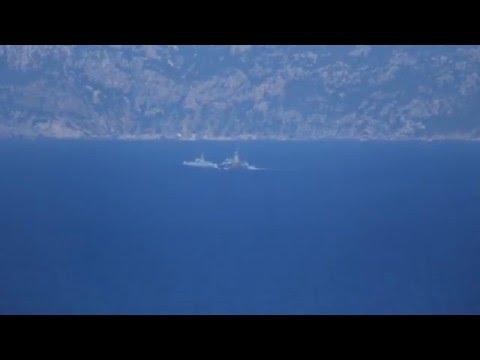 Hellenik Navy gunboat Krateos vs Turkish Navy patrol boat Tuzla class.