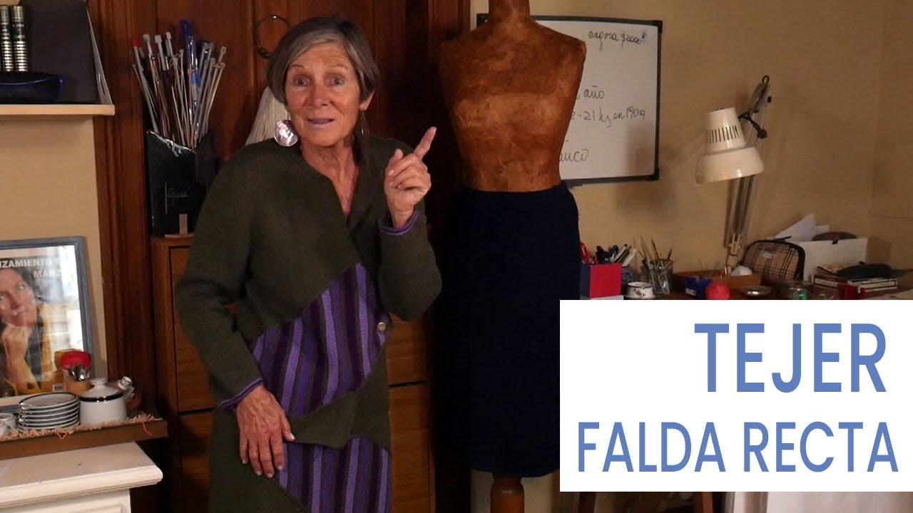 Cómo tejer falda recta fácil y sentadora 🧶Intro - Tejer con Lucila